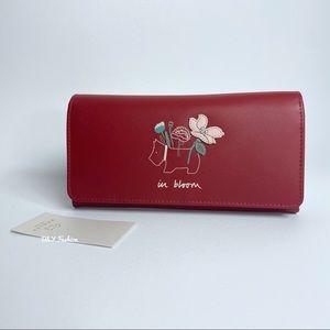 Radley London In Bloom Flapover Wallet in Red
